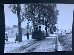 Photographie Originale De J.BAZIN Numérotée : Tramways De DIJON : Station  POUILLY En  1955 - Treinen