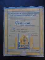 FRANCE - 13 - MARSEILLE 1939 - ART DECO - COOPERATIVE PRODUCTEURS DE BLE DU 13 ET DU 83 - TITRE DE 4 PARTS  DE 100 FRS - - Ohne Zuordnung
