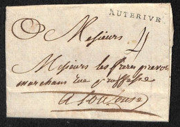 MARQUE POSTALE PRECURSEUR AUTERIVE SUR LAC DU 10 AVRIL 1790 - 1701-1800: Precursori XVIII