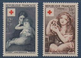 FR 1954  Emission Croix-Rouge   N°YT 1006-1007  ** MNH - Nuovi