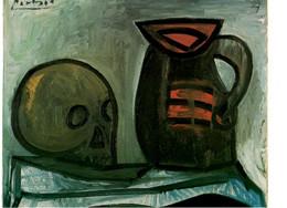 CPM - PABLO PICASSO - NATURE MORTE AU CRANE ET AU PICHET 1946 - HUILE SUR TOILE - MUSEE D'ART MODERNE DE CERET - Peintures & Tableaux