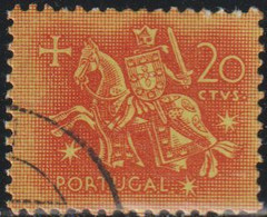Portugal 1953 Scott 763 Sello º Caballeros A Caballo Edad Media Rey Diniz Michel 794 Yvert 776 Stamps Timbre Briefmarke - Used Stamps