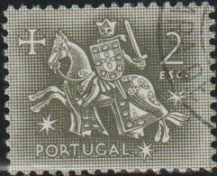 Portugal 1953 Scott 769 Sello º Caballeros A Caballo Edad Media Rey Diniz Michel 800 Yvert 782 Stamps Timbre Briefmarke - Used Stamps