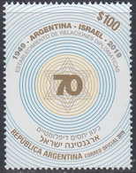 Argentina 2019.  70 Years Of Establishing Diplomatic Relations With Israel. MNH - Nuovi