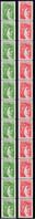 RT77 RT78 Sabine De Gandon 1,40F 1,60F Bandes De 11 Timbres **  Cote +de 24€ - Coil Stamps