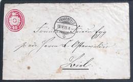 Briefpapier Aus Frauenfeld, Schweiz, Nach Biel Im Jahr 1885. Stationery Letter Issued From Frauenfeld, Switzerland To Bi - Covers & Documents