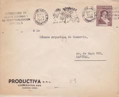 ARGENTINA. EXPOSICION DE ALGAS MARINAS Y DE INDUSTRIALIZACION, ALGUES MARINES SEAWEED. ENVELOPPE CIRCULEE 1949.- LILHU - Sonstige