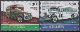 Argentina 2019.  Old (vintage) Buses. Urban Transport. MNH - Unused Stamps