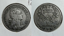 PORTUGUESE GUINEA 1 ESCUDO 1933 Km#5 (G#08-120) - Guinea-Bissau