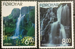FAROE ISLANDS 1999 MNH STAMP ON EUROPA, NATIONAL PARK,WATER FALL IMAGE 2 DIFFERENT  STAMPS - Islas Faeroes