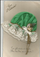 SUPERBE CARTE - VIVE SAINTE CATHERINE  - Bonnet En Tissus Vert Et Dentelle - Fleur Marguerite - Edition S.S.S. 1929 - Santa Caterina