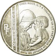 France, Jean Paul II Et Mère Térèsa, 10 Euro, 2010, BE, SUP, Argent - France