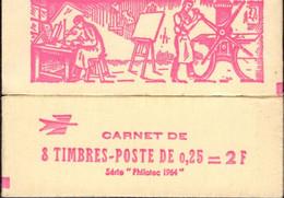 """CARNET 1331-C 5 COQ De DECARIS """"PHILATEC 64"""" Rose Fermé. Parfait état, RARE. - Definitives"""