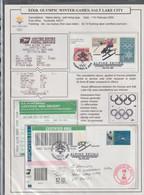 USA A4 Exhibition Page: 2002 Salt Lake Olympic Games - Alpine Skiing - Self Inking (BX1-117) - Winter 2002: Salt Lake City