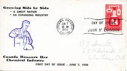 CANADA. N°290 De 1956 Sur Enveloppe 1er Jour. Industrie Chimique. - Chemistry