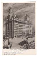 "Vintage Postcard Early1900's  England ""New Royal Liver Buildings Pierhead, Liverpool ""  Unused. Read Description BB - Pubblicitari"