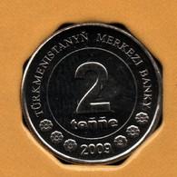 TÜRKMENISTAN 2 TENGE 2009 KM# 96 Carte Du Turkmenistan - Turkmenistan