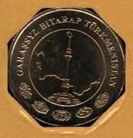 TÜRKMENISTAN 10 TENGE 2009 KM# 98 Carte Du Turkmenistan - Turkmenistan
