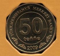 TÜRKMENISTAN 50 TENGE 2009 KM# 100 Carte Du Turkmenistan - Turkmenistan