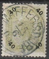 """Österreich, Austria  1901 40 H Lackstreifen MiNr. 94 """"MAFFERSDORF"""" - Used Stamps"""