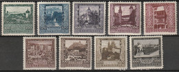 Österreich, Austria  1923 Landeshauptstädte Flugpostmarken MLH * Mit Falz. - Neufs