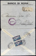 Lebanon 1929 Reg Cover To New York With Pr 7p50 On Back, Cover Opened Out For Display - Liban