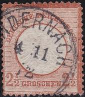 Deutsches Reich   .    Michel   .   21  (2 Scans)      .     O        Gebraucht - Used Stamps
