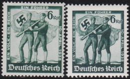 Deutsches Reich   .    Michel     .    662/663    .     *    ,     Ungebraucht  Mit Gummi - Unused Stamps