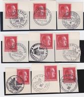 Deutsches Reich   .    Michel     .    660/661. Auf Papier .  9x       .     O    ,     Gebraucht - Gebraucht