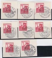 Deutsches Reich   .    Michel     .    691   .   Auf Papier    .   8x      .      O    ,     Gebraucht - Gebraucht