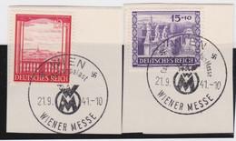 Deutsches Reich   .    Michel     .    804/805     .   Auf Papier      .      O    ,     Gebraucht - Used Stamps