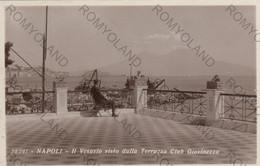 CARTOLINA  NAPOLI,CAMPANIA,IL VESUVIO VISTO DALLA TERRAZZA CLUB GIOVINEZZA,MARE,SOLE,LUNGOMARE,CULTURA,VIAGGIATA 1935 - Napoli (Napels)