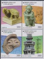 SOUTH KOREA, 2021, MNH, REPATRIATED CULTURAL HERITAGE, TURTLES, MONKEYS, 4v EMBOSSED - Archeologia