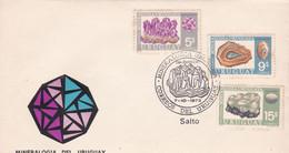 URUGUAY. MINERALOGIA DEL URUGUAY, MINERALOGY MINÉRALOGIE. ANNEE 1972 FDC ENVELOPPE.- LILHU - Minerales