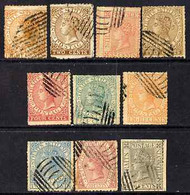 Malaya - Straits Settlements 1867 QV Selection Of 10 Litho Forgeries All 'used' - Malaya (British Military Administration)