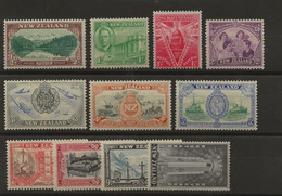 New Zealand, 1946, SG 667 - 677, Complete Set, Mint Hinged - Unused Stamps