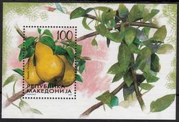 Macedonia 2005 Fruits Pear Plants, Block, Souvenir Sheet MNH - Obst & Früchte