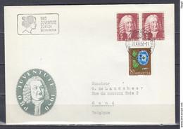 Brief Van Schweiz Automobil Postbureau Naar Gand (Belgie) - Briefe U. Dokumente