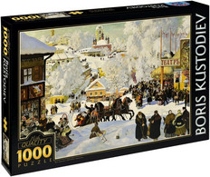 "NEW D-Toys Jigsaw Puzzle 1000 Pieces Tiles Boris Kustodiev ""Maslenitsa"" - Puzzle Games"