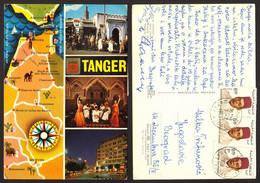 Morocco Tanger Map  Nice Stamp  # 18485 - Tanger
