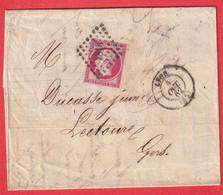 N°17B ROSE VIF PC 1818 LYON RHONE POUR LECOURE GERS - 1849-1876: Klassieke Periode