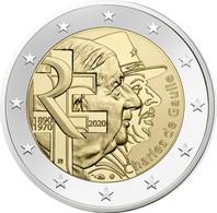 2 Euro Commemorative France 2020 50 Ans De La Mort Du General De Gaulle - Francia