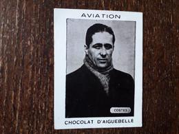 L36/165 CHROMO IMAGE ( Petite ) CHOCOLAT D'AIGUEBELLE . AVIATION . COSTES - Aiguebelle