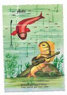 CPSM 1 Avril Poisson Humanisé Type Sirène Guitare - Humour Devinez Qui Vous L'envoie, Vous Saurez Qui Vous Aime... - April Fool's Day