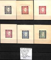 D - [839233]TB//**/Mnh-c:132e-Belgique 1947 - E52 A/F, En Petits Feuillets (A), Prince Charles, Papier Mince, Familles R - Erinofilia