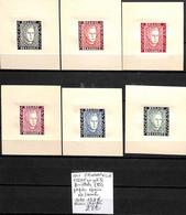 D - [839234]TB//**/Mnh-c:132e-Belgique 1947 - E52 A/F, En Petits Feuillets (B) Papier épais, Prince Chalres, Familles Ro - Erinofilia