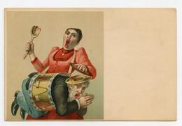 Surréalisme. Numéro De Cirque. Circus. Cirk. Un Homme Dans Un Tambour. Femme. Woman. - Circus