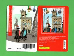 ITALIA :  Tessera Fil. - Insediamento Carabinieri A San Marino - Tiratura  1500 Pz.  Del  1.06.2021 - Cartes Philatéliques