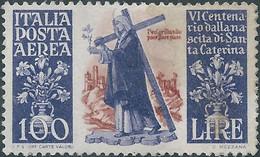 ITALIA-ITALY-ITALIE-ITALIEN ,1948 6th Centenary Of The Birth Of Saint Catherine Of Siena,100L Mint - 1946-60: Mint/hinged