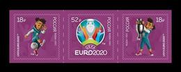 Russia 2021 Mih. 2999/3001 UEFA European Football Championship EURO 2020 MNH ** - Ungebraucht